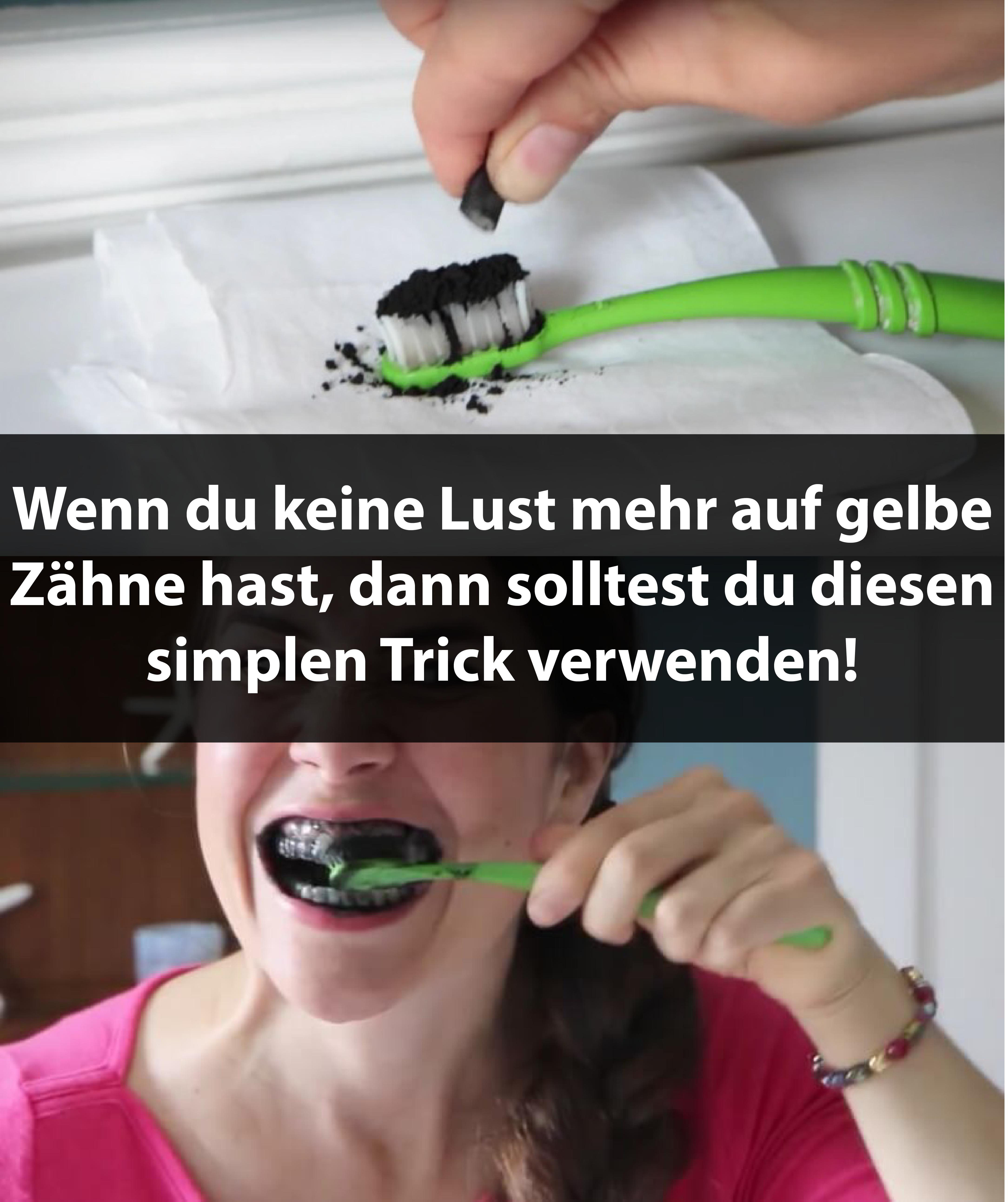 Wenn du keine Lust mehr auf gelbe Zähne hast, dann solltest du diesen simplen Trick verwenden!