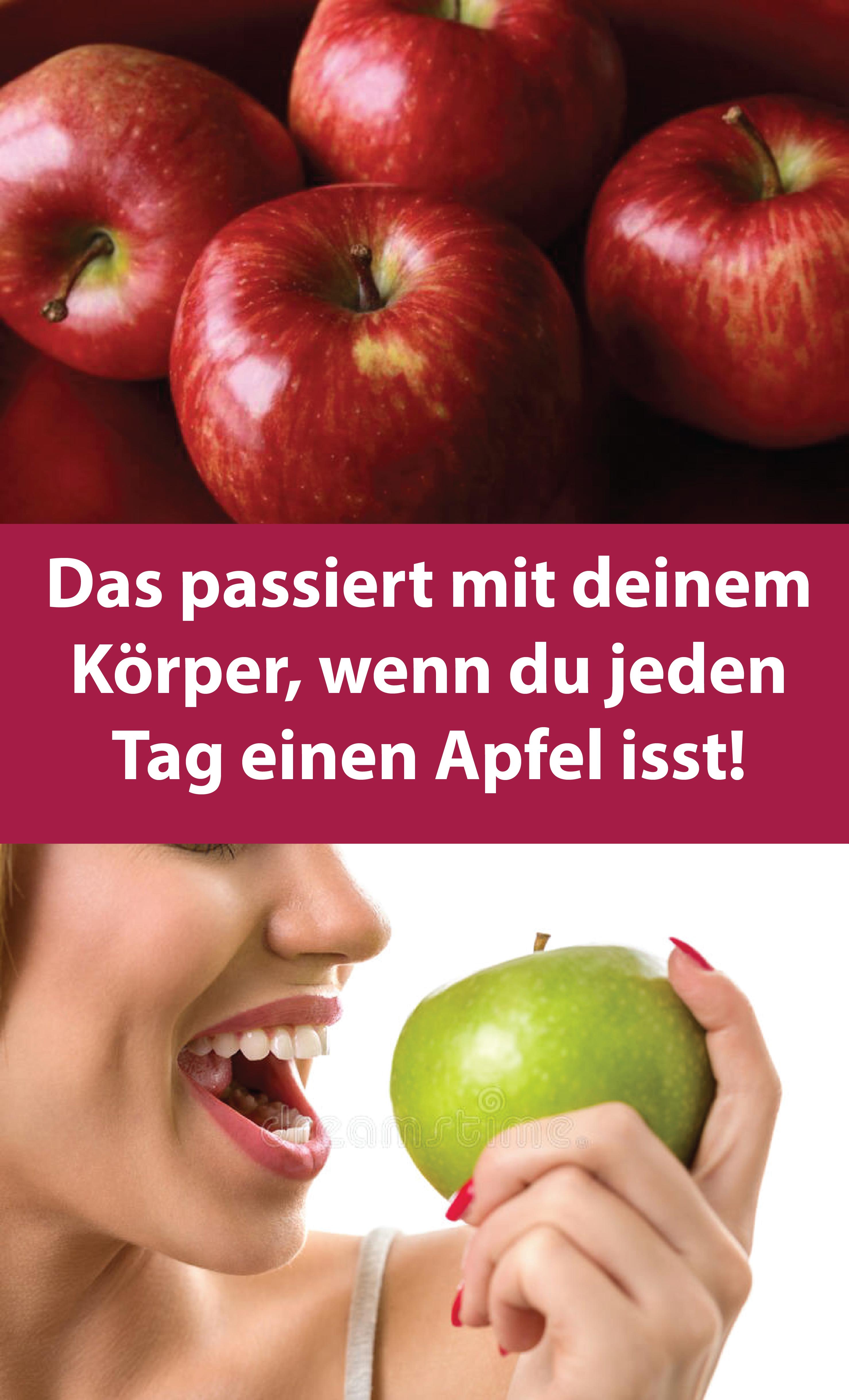Das passiert mit deinem Körper, wenn du jeden Tag einen Apfel isst!