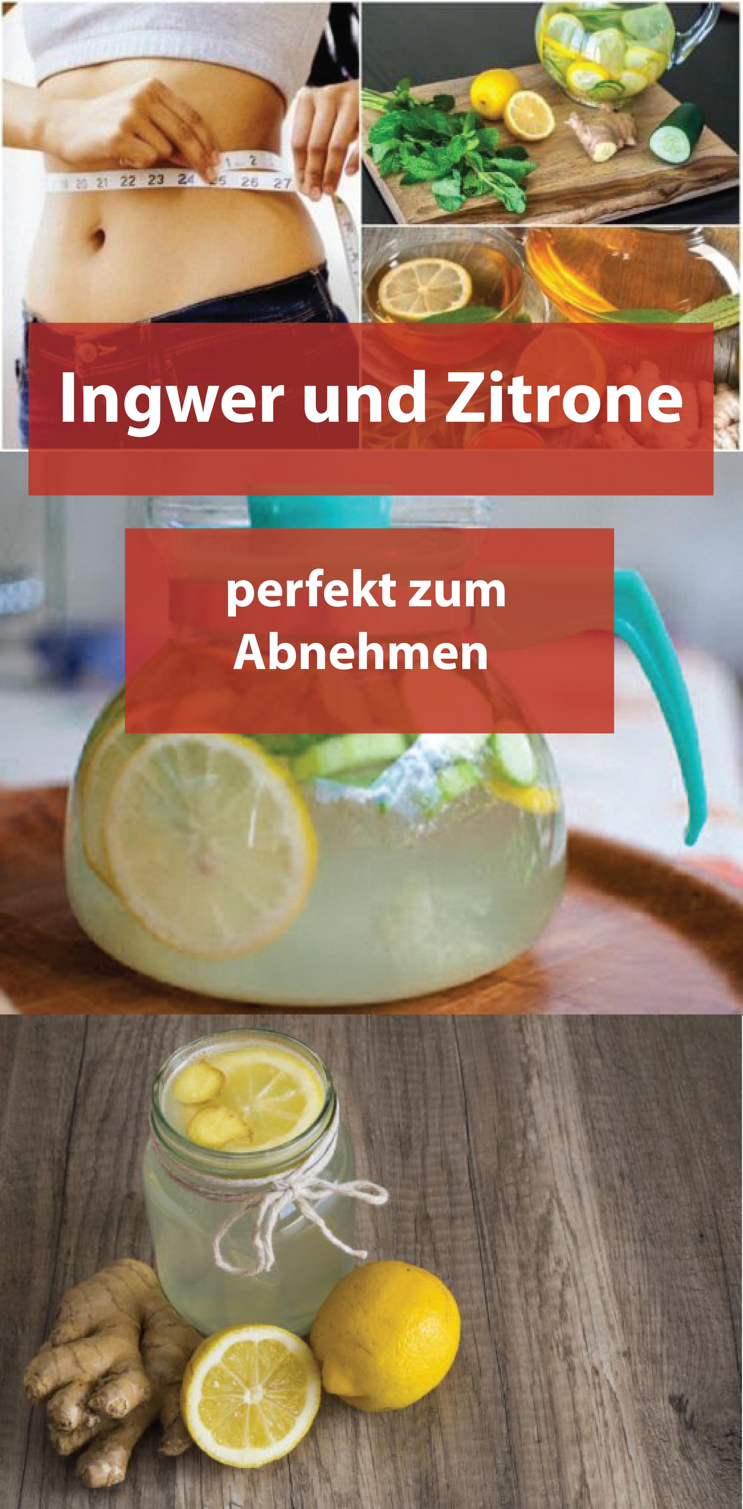 Ingwer und Zitrone: perfekt zum Abnehmen