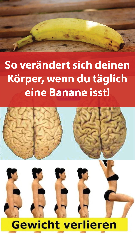 So verändert sich deinen Körper, wenn du täglich eine Banane isst!