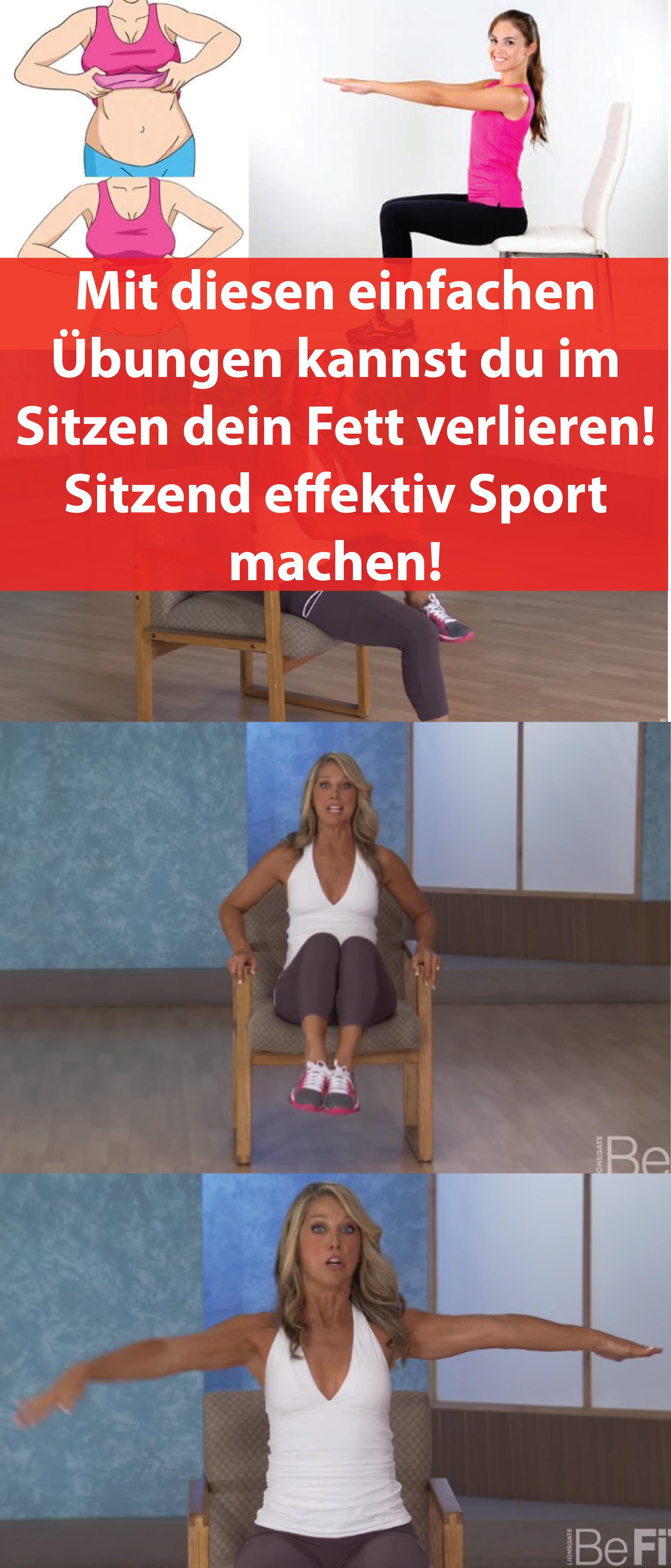 Du möchtest gerne am Bauch abnehmen? Mit diesen einfachen Übungen kannst du im Sitzen dein Fett verlieren! Sitzend effektiv Sport machen!