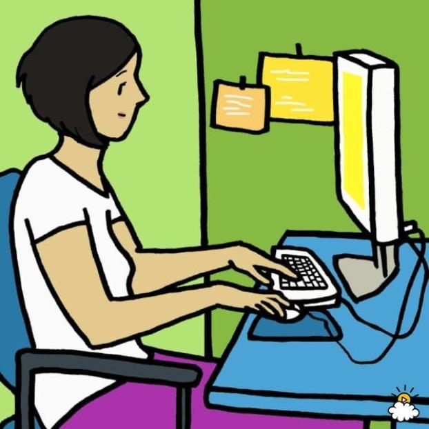 Frau am Computer
