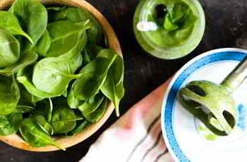 Spinat verbessert auch den Zellstoffwechsel