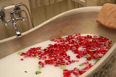 Aromatherapie in der Badewanne