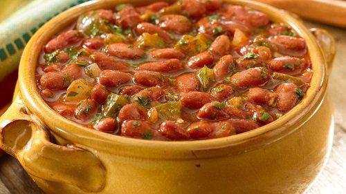 Refried Bohnen mit Speck und Chili